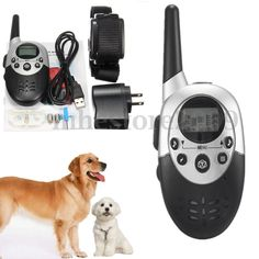$6.77 - Rechargeable E-Collar Electric Shock 1000M Remote Control Dog Training Anti-Bar #ebay #Home & Garden