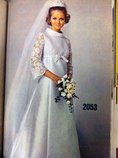 Cheryl Tiegs Vogue Patterns Wedding Dress January 1969