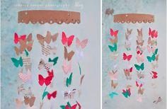 la decoración de mis mesas: Fiestas en el jardín: Móvil de mariposas