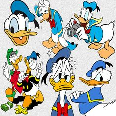 81 Donald Duck Clip Art INSTANT DOWNLOAD FOR by CrafterHappy