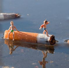Intervenciones urbanas en miniatura, por Slinkachu