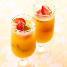 Mimosas - Take your pick of champagne cocktails with these orange,  pineapple or cranberry variations.