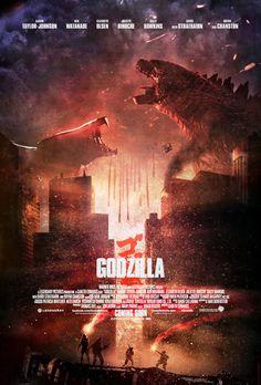 Awesome Godzilla 2014 vs. Muto Fan Art Movie Poster
