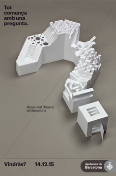 QUESTION MARK Museu del Disseny (Print) by Lo Siento Studio, Barcelona