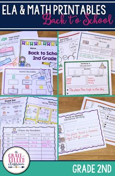 Use these Back to School 2nd grade printables at the beginning of the year to help transition your 1st grade students while teaching them routines and procedures.