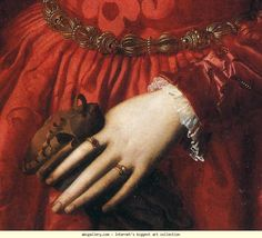 Agnolo Bronzino. Lady in a Red Dress with a Fair-Haired Little Boy. Detail.