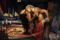 Wynter and Khamsin  How to fall for a Pirate Assassin by KejaBlank on deviantART