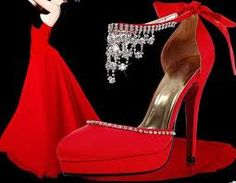<3 bright Red and Blingie Heels