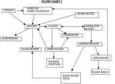 Flow Diagrams for Brazilian Jiu-Jitsu