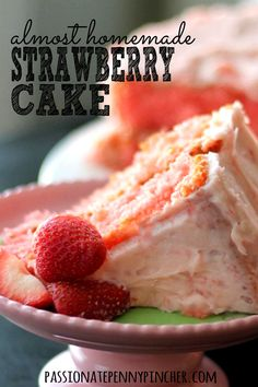 The BEST Strawberry Cake recipe you will ever eat - perfect for Easter brunch or anytime of year!