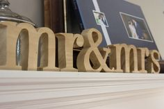 Mr and Mrs Letters for Sweetheart Table by madfishdesigns on Etsy, $35.00