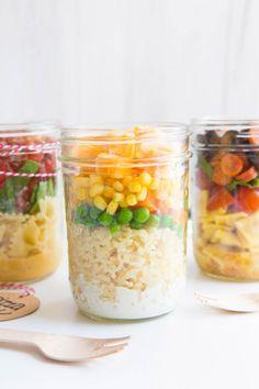 3 Back-to-School Mason Jar Lunches