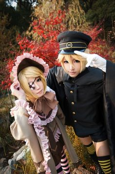 VOCALOID - cosplay - Senbonzakura -  Kagamine Rin & Len  | We Heart It