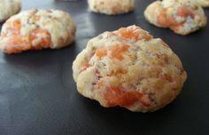 Cookies apéro au samon fumé / citron et kasha (sarrasin grillé)