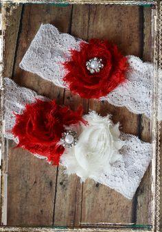 Red Wedding garter.... weddings ... holiday by abushelandapeck1, $23.00