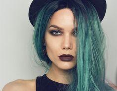 【ρinterest: LizSanez✫☽】 Teal  - Linda Hallberg Makeup