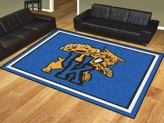 8' x 10' Area Rug - University of Kentucky Wildcats Cat Logo