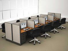Basic cofiguration of the call center cubicles! #callcentercubicles