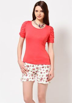 Plain Pink Short Sleeve Top Price: Rs 495