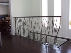 Metal Hand Railing Metal Hand Rail Cat Tail And Willow Interior Wrought Iron Railing Metal Handrails For Front Steps Metal Hand Railing Home Depot Wood Railings For Stairs, Indoor Railing, Interior Stair Railing, Wrought Iron Stair Railing, Stair Railing Design, Stair Handrail, Balcony Railing, Iron Railings, Hand Railing