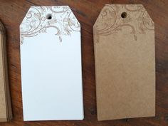 Wedding Favor Tag Blank Tag Gift Tag  Set of 10 by chickydoddle
