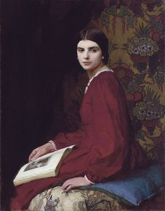 ✉ Biblio Beauties ✉ paintings of women reading letters & books - George…