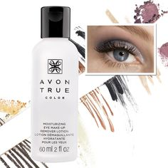 True Color Moisturizing Eye Makeup Remover Lotion gently moisturizes around eye area as it whisks away makeup.   - Avon