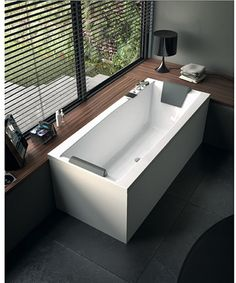 Glass by Nameeks PP000A0 71 in. Eden Drop-In Soaking Tub with Drain - Bathtubs at Hayneedle