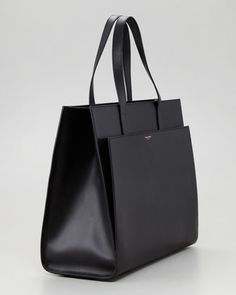 Saint Laurent Flat Shopping Tote Bag, Black - Bergdorf Goodman