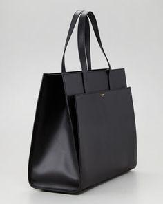 Saint Laurent Flat Shopping Tote Bag, Black - Bergdorf Goodman