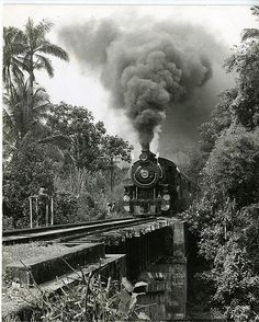 The Jamaican Railway Corporation engine 54, on its last run entering May Pen, Clarendon, 1968 | Flickr - Photo Sharing!