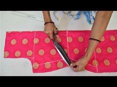 Easy back neck blouse designing - YouTube