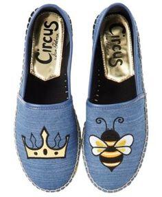 "Circus By Sam Edelman Leni ""Queen Bee"" Espadrille Flats - Blue"