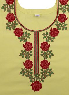 Best embroidery machine for beginners fabrics 37 ideas Phulkari Embroidery, Hand Embroidery Dress, Embroidery On Clothes, Embroidered Clothes, Embroidery Applique, Embroidery Patterns, Chudi Neck Designs, Dress Neck Designs, Collar Designs