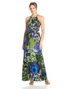 Floral-Print Maxi Dress by London Times