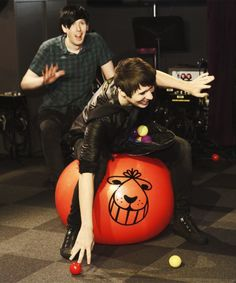 dan and phil bbc radio 1 (shows Monday night at 9 o'clock {in England time} )