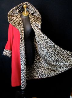 This item is unavailable - Amazing Lipstick Red Wool Swing Coat—this is how I want to remake my vintage red coat - 50 Fashion, Fashion History, Fashion Outfits, Womens Fashion, Leopard Fashion, Animal Print Fashion, Vintage Dresses, Nice Dresses, Vintage Outfits