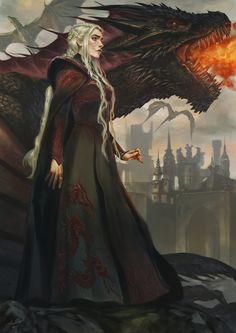 Mother of Dragons, Fadly Romdhani on ArtStation at https://www.artstation.com/artwork/D1J1n