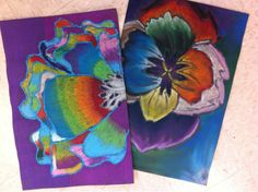 Oil Pastel Flowers and much more. Great cd radial balance project and cubist soda cans