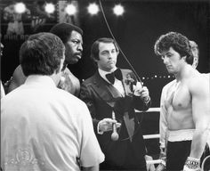 Sylvester Stallone, Carl Weathers, and Jeff Temkin in Rocky II Rocky Stallone, Rocky Sylvester Stallone, Rocky Series, Rocky Film, Stallone Movies, Apollo Creed, Silvester Stallone, Creed Movie, Carl Weathers