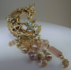 Vintage Jewelry Chatelaine Celestials Angel Pearl by DLSpecialties, $11.00