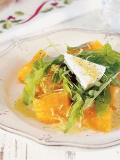 salata me kolokytha,manouri kai roka Chrismas Cake, Cake Roll Recipes, 30 Cake, Kinds Of Salad, Rolls Recipe, Greek Recipes, Salad Dressing, Thai Red Curry, Side Dishes