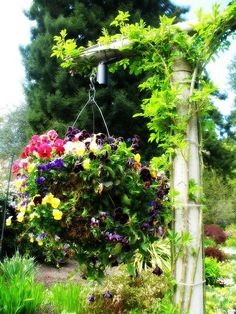 great hanging flower basket tutorial...
