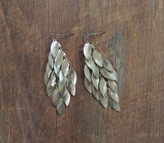 Statement Earrings / Gold Leaf Earrings / by littleedenvintage, $15.00