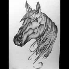 check out my artwork  here www.facebook.com/sorasoraya.studio  #horse #drawing #horsehead #unique #art #artwork #animals