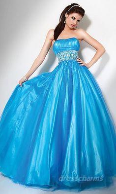 Ball Gown Satin Tube Long Dress Charm86120