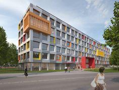 'Junges Wohnen' in München - V2   Raumlabor3 - Architekturvisualisierung aus Karlsruhe