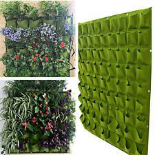 72 Pockets Balcony Herbs Vertical Garden Wall Hanging Planter Bag 100*100cm