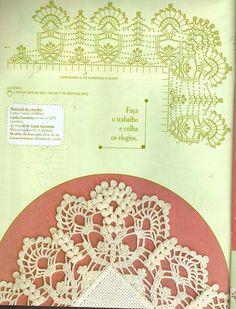 "Photo from album ""Punto Cruz"" on Yandex. Crochet Boarders, Crochet Lace Edging, Crochet Chart, Crochet Trim, Filet Crochet, Irish Crochet, Crochet Stitches, Knit Crochet, Granny Square Häkelanleitung"