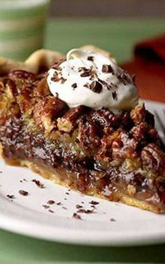 Millionaires Chocolate Pecan Pie - This dessert pie, layered with chocolate, coconut, and pecans, tastes like a million dollars! Millionaires Chocolate Pecan Pie 3 cup light-colored corn cup granulated cup packed brown cup butter or margarine Pecan Recipes, Sweet Recipes, Cake Recipes, Dessert Recipes, Just Desserts, Delicious Desserts, Pecan Desserts, Sweet Pie, Pie Cake
